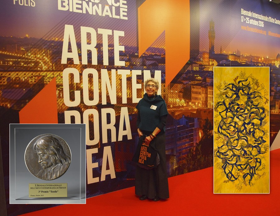 Alice received the Lorenzo Il Magnifico 3rd place award in Textile Arts at the Florence Biennale